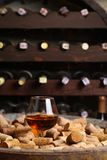 Brandy in a wine cellar Royalty Free Stock Image