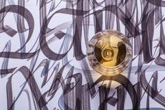 Brandy y caligrafía imágenes de archivo libres de regalías
