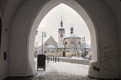 Brandys nad Labem - Stara Boleslav - Heilig-Wenceslas-Basilika und Kirche St. Kliment Stockbild