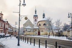 Brandys nad Labem - Stara Boleslav - Heilig-Wenceslas-Basilika und Kirche St. Kliment Stockfotos