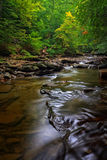 Brandywine Creek Falls. A small waterfall on Brandywine Creek in Cuyahoga Valley National Park Ohio.  Seen here in summer with low water flow Royalty Free Stock Images
