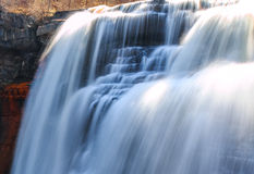 sunlit waterfall Royalty Free Stock Photo