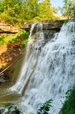 Brandywine Falls, vertical view Royalty Free Stock Photos