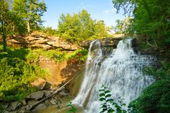 Brandywine Falls, wide view Stock Image