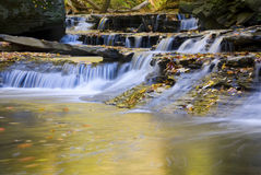 Brandywine Small Falls Emptying Into Pool Landscape Stock Photo