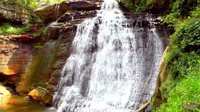 Brandywine Waterfall Ohio stock footage