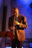 Branford Marsalis,萨克斯管,演奏实况音乐在克拉科夫爵士乐万灵日Festiva 免版税库存照片