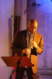 Branford Marsalis,萨克斯管,演奏实况音乐在克拉科夫爵士乐万灵日Festiva 库存照片