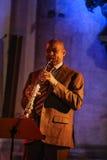 Branford Marsalis,萨克斯管,演奏实况音乐在克拉科夫爵士乐万灵日Festiva 免版税库存图片