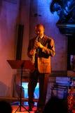 Branford Marsalis, саксофон, играя живую музыку на джазе Cracow весь день душ Festiva Стоковая Фотография