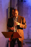 Branford Marsalis, саксофон, играя живую музыку на джазе Cracow весь день душ Festiva Стоковая Фотография RF