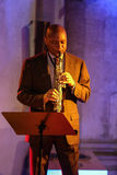 Branford Marsalis, saksofon, bawić się muzyka na żywo przy Krakowskim jazzem Wszystkie dusza dzień Festiva Obraz Royalty Free