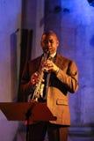 Branford Marsalis saxofon som spelar levande musik på Cracowen Jazz All Souls Day Festiva Arkivbilder