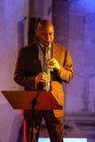 Branford Marsalis saxofon som spelar levande musik på Cracowen Jazz All Souls Day Festiva Royaltyfri Bild