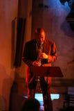 Branford Marsalis saxofon som spelar levande musik på Cracowen Jazz All Souls Day Festiva Arkivfoto