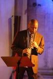 Branford Marsalis saxofon som spelar levande musik på Cracowen Jazz All Souls Day Festiva Arkivfoton