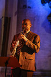 Branford Marsalis saxofon som spelar levande musik på Cracowen Jazz All Souls Day Festiva Royaltyfria Bilder