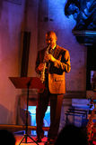 Branford Marsalis, saxofone, jogando a música ao vivo no Cracow Jazz All Souls Day Festiva Fotografia de Stock