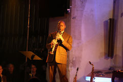 Branford Marsalis, saxofone, jogando a música ao vivo no Cracow Jazz All Souls Day Festiva Imagens de Stock