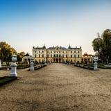 Branicki宫殿在Bialystok 库存照片