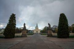 Branicki宫殿大门在Bialystok,波兰 库存照片