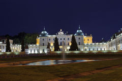Branicki Palace at night Royalty Free Stock Image