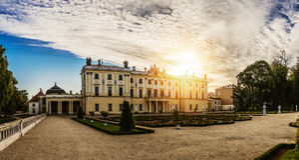 Branicki slott i Bialystok Arkivfoto