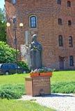 BRANIEWO, ПОЛЬША Памятник благословленное Регина Protmann 1552-1613 стоковое фото