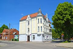 BRANIEWO, POLAND. The building of body of the regional power in summer day Stock Photography