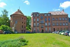 BRANIEWO, POLSKA Widok stare średniowieczne budowy Obraz Stock