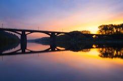 Branik bro på soluppgång Prague tjeckisk republik Arkivfoton