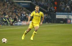 Branislav Ivanović  FC Schalke v FC Chelsea 8eme Final Champion League Royalty Free Stock Photography