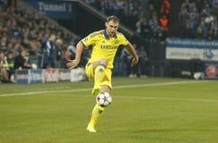 Branislav Ivanović  FC Schalke v FC Chelsea 8eme Final Champion League Royalty Free Stock Photos