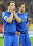 Branislav Ivanovic et Frank Lampard de Chelsea London Images libres de droits