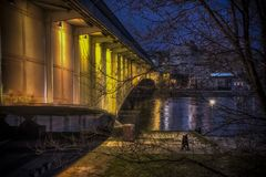 Branko ` s桥梁在贝尔格莱德 免版税库存照片