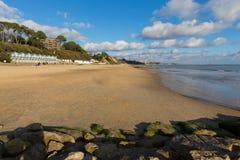 Branksomestrand Poole Dorset Engeland het UK dichtbij aan Bournemouth Stock Foto's