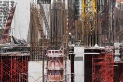 Bransch för ställning- och för stålbyggandekonstruktion platsarkitektur royaltyfri foto