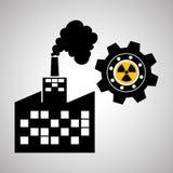 Branschdesign-, växt- och fabriksbegrepp, redigerbar vektor Arkivfoton