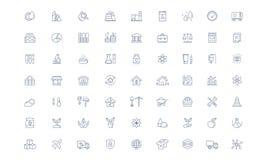 Branschvektorlinje symbolsuppsättning royaltyfri illustrationer