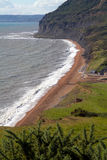Branscombe beach in Devon. Branscombe in Devon is located within the East Devon Area of Outstanding Natural Beauty,  It is part of the stunning South-West Royalty Free Stock Photos
