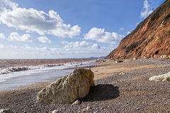Branscombe Beach - Devon royalty-vrije stock foto