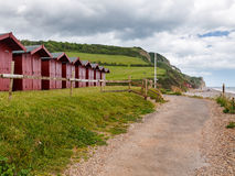Branscombe Beach Huts Images stock