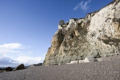 Branscombe Beach nära Seaton i Devon i södra västra England royaltyfri fotografi