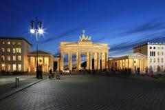 Bransenburgpoort in de stad van Berlijn duitsland Royalty-vrije Stock Fotografie