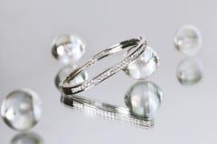 bransoletka 1 diament Obrazy Royalty Free