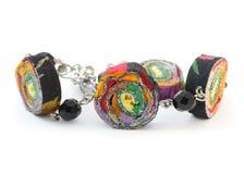 bransoletki handmade kolorowy Zdjęcia Stock
