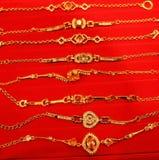 bransoletki złote Fotografia Stock