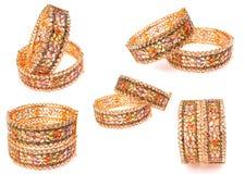 bransoletki złote Obrazy Stock
