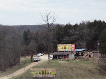 Branson horse trail ride royalty free stock photography