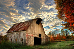 Bransteter Road Barn Royalty Free Stock Images
